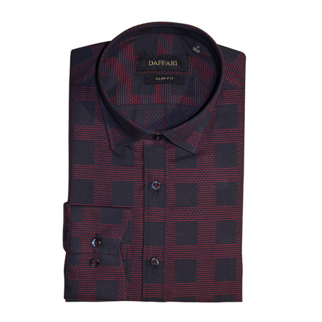 York Shirt // Navy Blue + Burgundy (XS)
