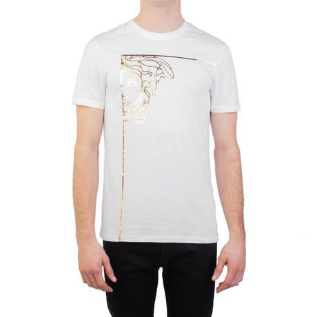 Angular Medusa Graphic T-Shirt // White (S)