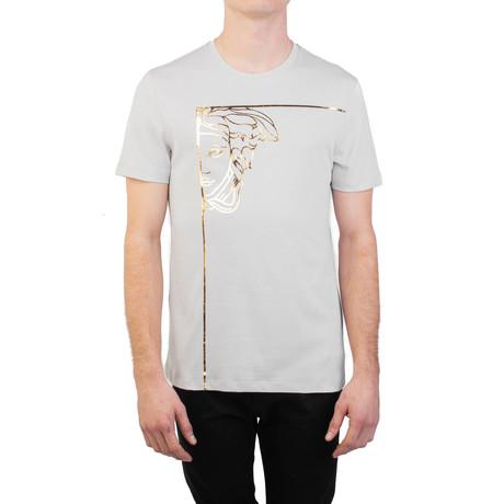 Angular Medusa Graphic T-Shirt // Gray (S)