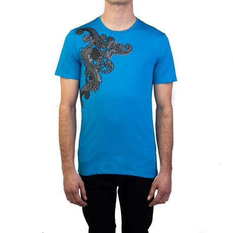 Baroque Graphic T-Shirt Sky // Blue (S)