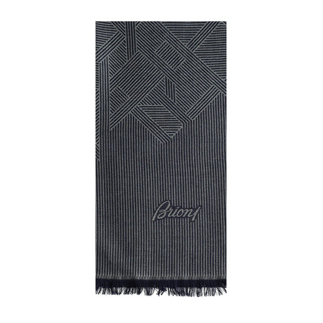Brioni // Wool + Cashmere Scarf // Gray