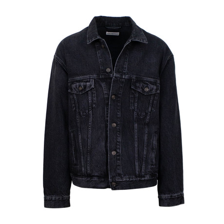 Women's LGBQT Embroidered Denim Jacket // Black (0)