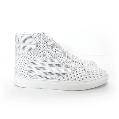 Men's Hi-Top Leather Sneaker // White (Euro: 40)