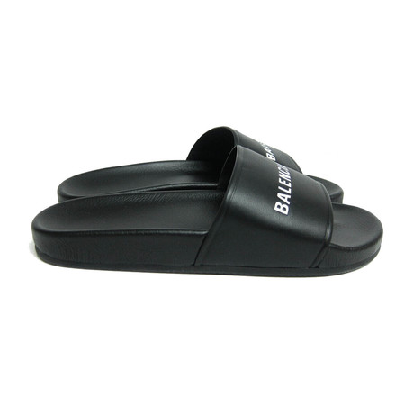 Men's Logo Pool Slide Sandals // Black (Euro: 40)