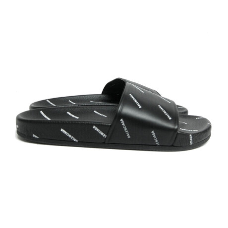 Men's Allover Logo-Stamped Pool Slide Sandals // Black (Euro: 40)