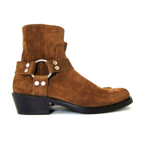 Men's Harness Biker Suede Boots // Brown (Euro: 40)