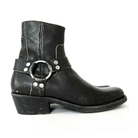 Men's Harness Rough Biker Boots // Black (Euro: 40)