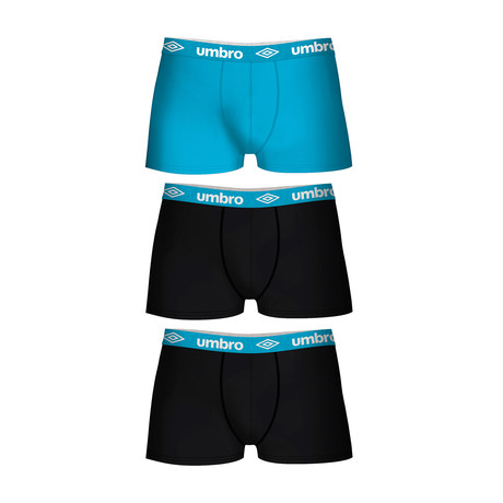 Ralph Boxers // Set of 3 // Turquoise Accent (S)