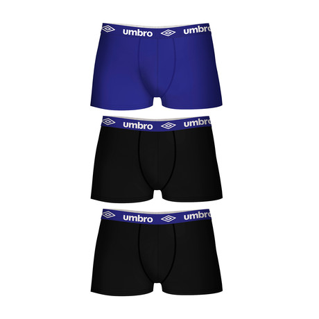 Joey Boxers // Set of 3 // Blue Accent (S)