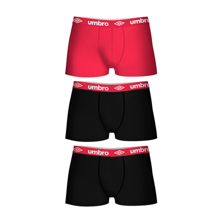 Lyam Boxers // Set of 3 // Red Accent (S)