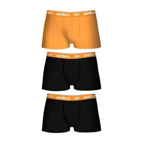 Walter Boxers // Set of 3 // Orange Accent (S)