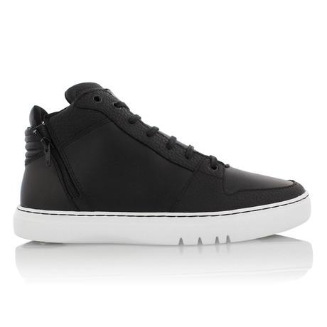 Adonis Mid Zip // Black + White (US: 9.5)