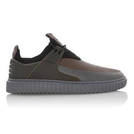 Castucci Casual Sport Sneaker // Charcoal + Black + Burgundy (US: 7)