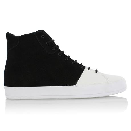 Carda Hi Zip Chukka // Black + White (US: 7)