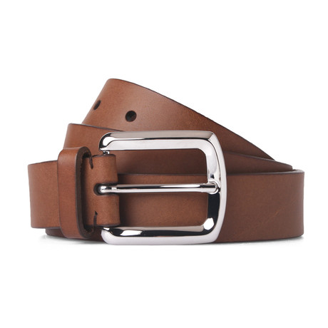 Leather Belt // Brown // 39.3 Inches