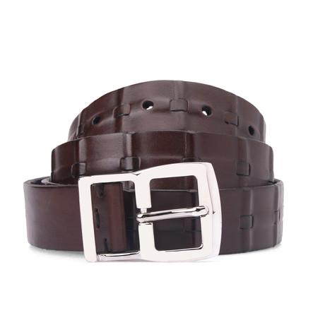 Leather Belt // Dark Brown // 41.3 Inches