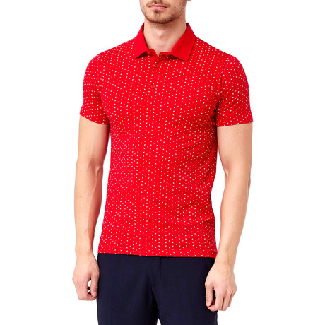 Dot-Pattern Polo // Red (S)
