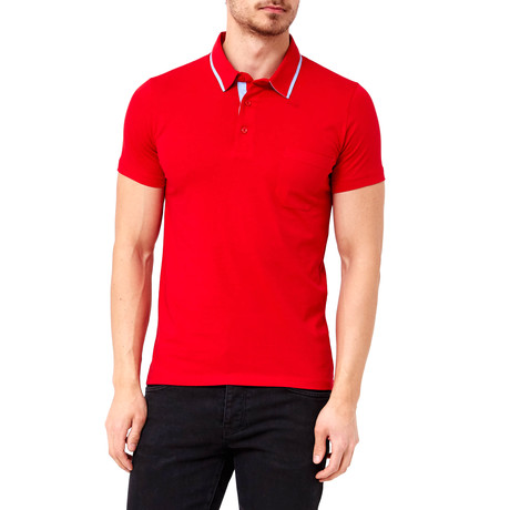 Solid Pocket Polo // Red (S)