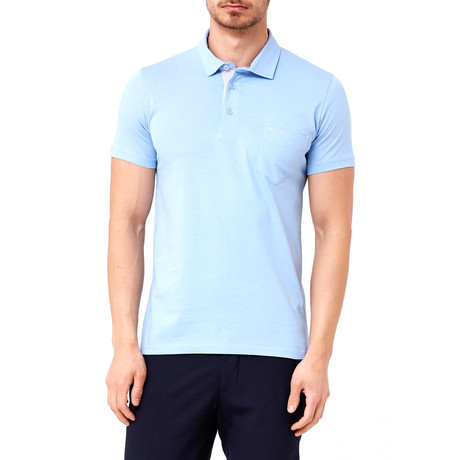 Solid Pocket Polo // Light Blue (S)