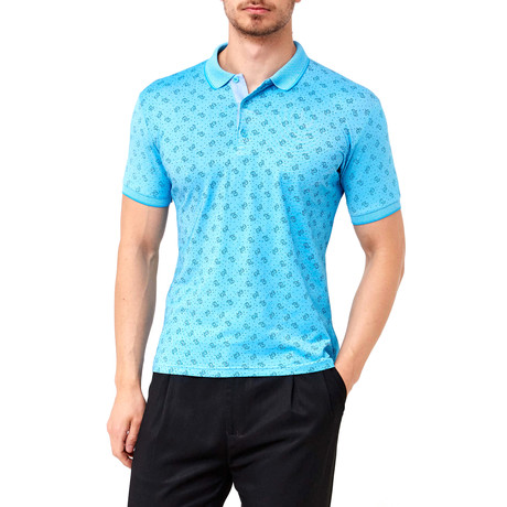 Seed Pattern Polo // Turquoise (S)