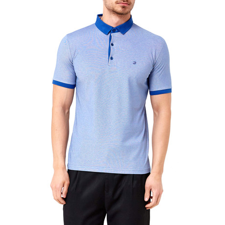 Contrast Polo // Blue (S)
