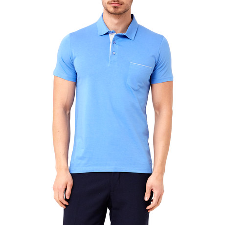 Solid Pocket Polo // Blue (S)