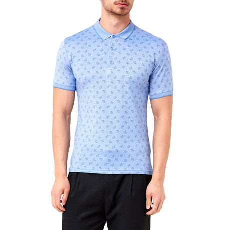 Seed Pattern Polo // Blue (S)