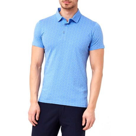 Dot-Pattern Polo // Blue (S)