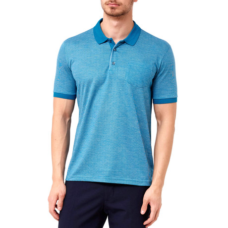 Micro-Dotted Polo // Turquoise (S)