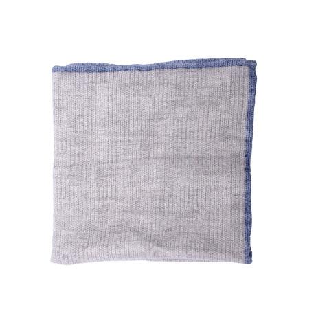 Pocket Square // Gray + Blue