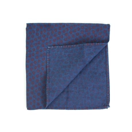 Brunello Cucinelli // Pocket Square // Indigo