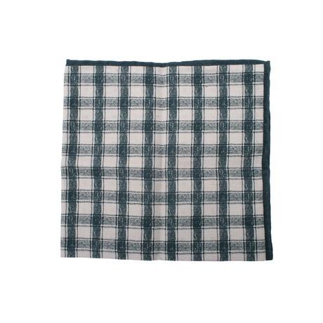 Pocket Square // Green + Cream