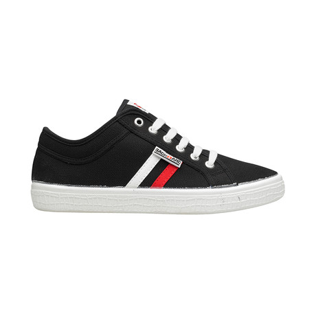 Backyard 2.0 Sneakers // Black + Red + White Outsole (Euro: 39)
