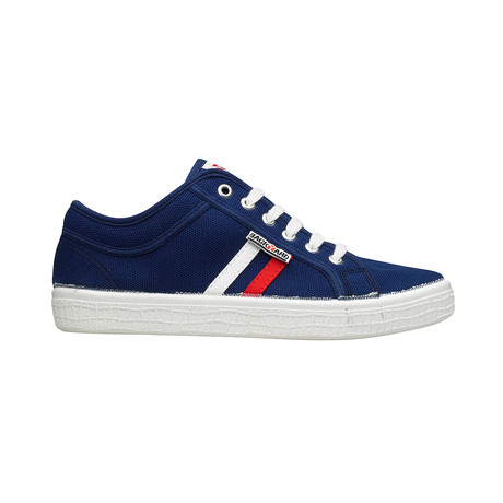Backyard 2.0 Sneakers // Navy + White + Red Stripes (Euro: 39)