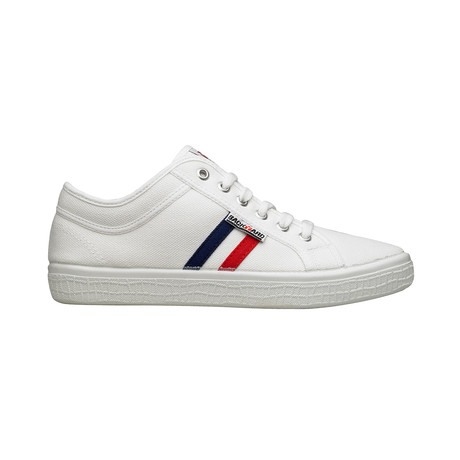 Backyard 2.0 Sneakers // White + Navy Red Stripes (Euro: 39)