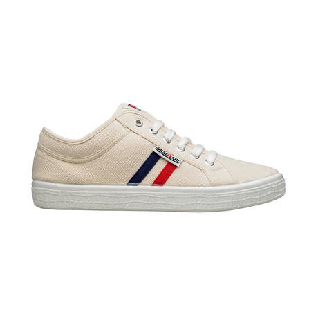 Backyard 2.0 Sneakers // Beige + Navy + Red Stripes (Euro: 39)