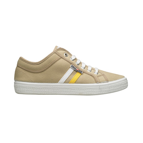Backyard 2.0 Sneakers // Sand White + Yellow Stripes (Euro: 39)