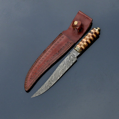 Damascus Hunting Knife // VK259