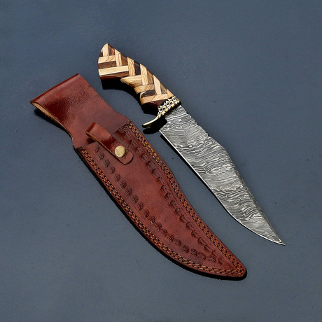 Damascus Hunting Bowie // VK260