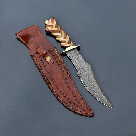 Damascus Hunting Bowie // VK261