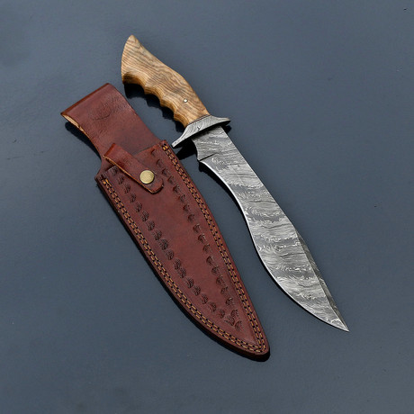 Damascus Hunting Bowie // VK262