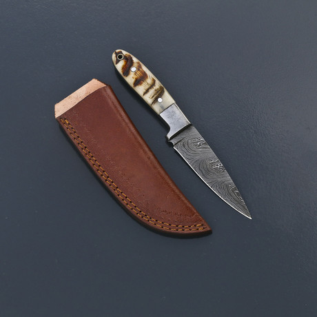 Damascus Skinner Knife // VK270