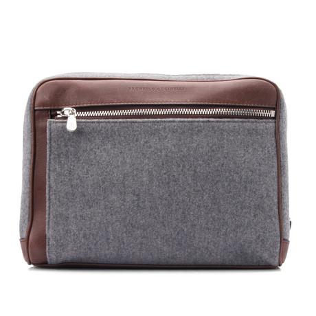Personal Care Bag // Gray + Brown