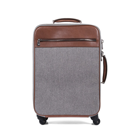 Roller Suitcase // Gray + Brown
