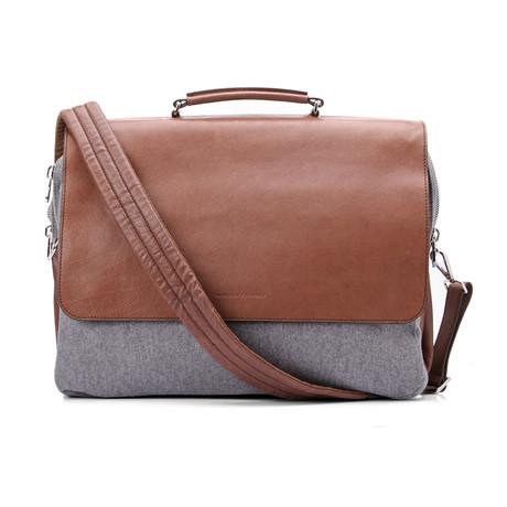 Briefcase // Gray + Brown