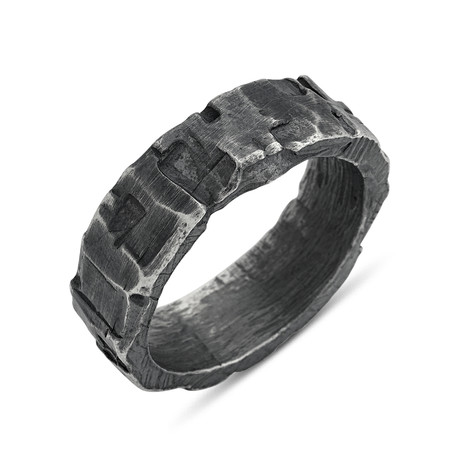 Rugged Textured Ring (Size: 8)