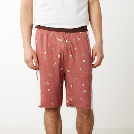 Sean Flower Lounge Shorts // Burnt Rose (S)