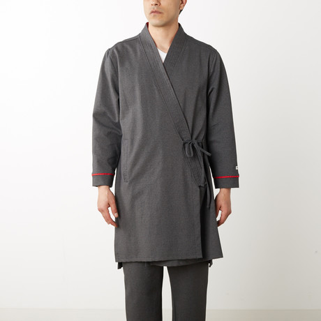 "Vang ""Is This Reality"" Kimono Robe // Heather Gray (S)"