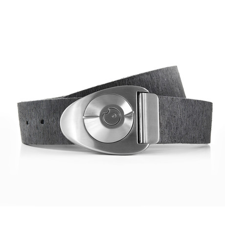 Satin Dial Rough Rider Belt // Gray (32)