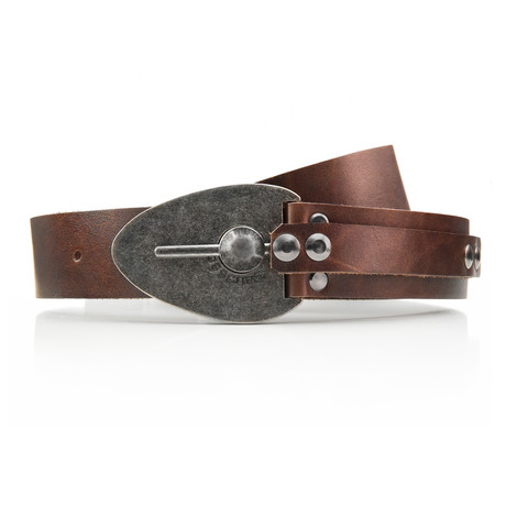 Aged Excalibur Belt // Brown (32)